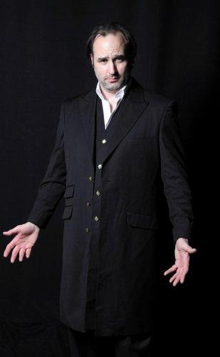 s Mafia Zoot Suit Anzug - Schwarz - Florian Obst Gangster Silver Anzug Mantel Langweste Gehrock, Gr. 46 ()