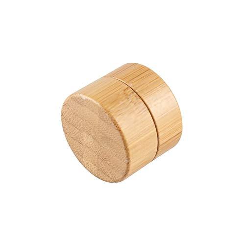 12er 5 g / 5 ml 1.7oz Kosmetische Leere Kosmetikbehälter Dosen Gel Creme Leerdose Kosmetische Behälter Bambus-Dose, Töpfe,Natur Aufbewahrungsbox -