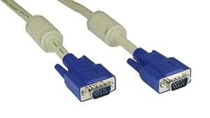 InLine 17805 Câble audio vidéo - Câble AV (0.5m, VGA (D-Sub), VGA (D-Sub), S-VGA) Beige, bleu