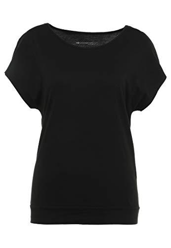 Even&Odd Active Sportshirt Damen - T-Shirt für Training & Sport - Yoga Shirt in Schwarz, M