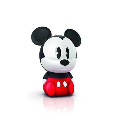 Philips Disney LED Nachtlicht Micky Maus mit USB Anschluss, schwarz