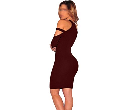 Frau Nachtclub Sexy Trägerloses Kleid Mehrfarbig Multi-size Red