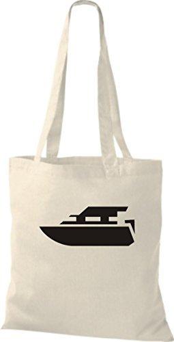 JUTA Tote Bag BARCA MOTORE, YACHT, barca,SKIPPER, CAPITANO Naturale