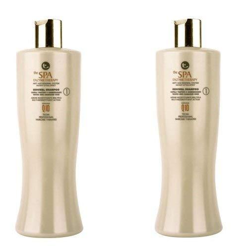 Shampoo detergente professionale 1000 ml tecna the spa enzymetherapy renewal shampoo duo pack 2 x 500ml promozione spedizione gratuita