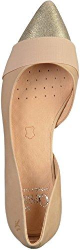 Caprice Damen 22110 Geschlossene Sandalen mit Keilabsatz Beige