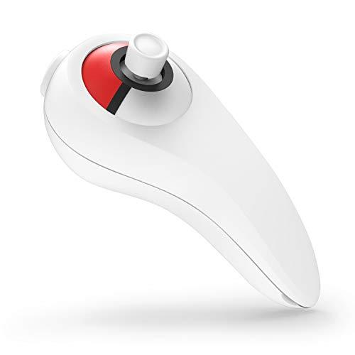 IDESION Poignée pour Manette Poké Ball Plus Support pour Jeux Nintendo Switch Pokémon Let's Go Pikachu Évoli, Blanc