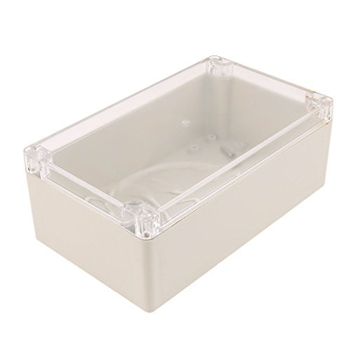 DealMux Clear Cover Waterproof Sealed Enclosure Case DIY Junction Box 200 x 120 x 75mm -