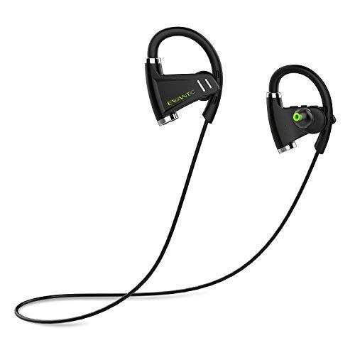 Bluetooth Kopfhörer, EWANTIC E3 IPX6 Wasserdichte Sport Kopfhörer Bloothooth Kabellos, mit CVC6.0 Geräuschunterdrückung Mikrofon, 8 Stunden Musikzeit, für iPhone,Samsung, Huawei und mehr (Schwarz)