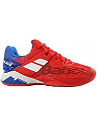 Babolat 30s1302pour homme V-Pro 2Clay M Whitet/rouge Chaussures de tennis - Multicolore - Whitet/Red,