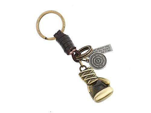 Descripción:Color: oro antiguo + marrónTamaño: Approx.4x2.3cm Longitud total: 10cmMaterial: cuero, metalAtractivo y atractivo colgante para decorar bien tu bolso o teléfonoLindo llavero es perfecto para bolso / teléfono / monedero / accesorio colgant...