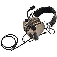 Z-TAC Z-Tactical Z029 Mikrofon Kopfh/örer Bowman Evo III Doppelt Seite Taktisch Kopfh/örer Adapter Milit/är Airsoft Jagd Mic Rundfunkger/ät DE mit B/ügel