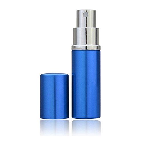 Bluelover Rechargeable Mini Bouteille De Parfum Vide Parfum Bottle Traveler Spray Vaporisateur en Aluminium-Bleu