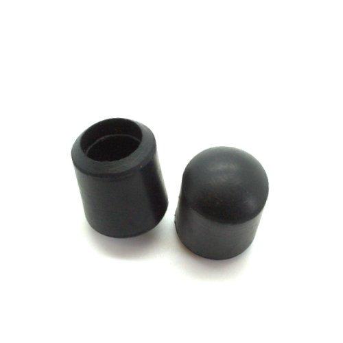 10Stück 16mm Heavy Duty Gummi Stuhl Aderendhülsen mit Metall Waschmaschine, Heavy Duty Stuhl Füße–rutschfest Markieren auf Metallkappen Test