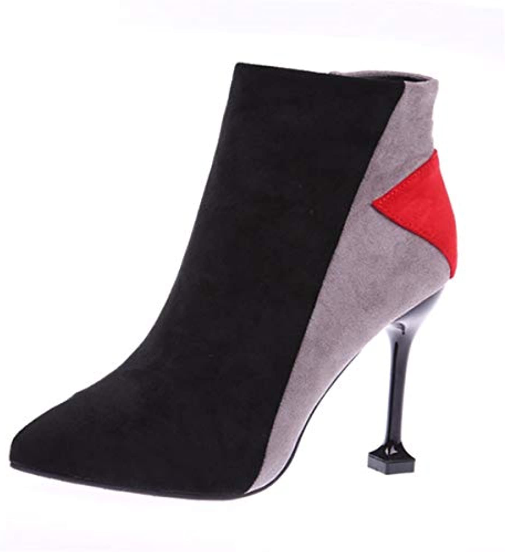 GTVERNH Chaussures Femmes/des Couleurs des Chaussures Bien De L'Automne De l'hiver Pointu du Daim Bien Chaussures Talon De 10...B07JLDCSXPParent 2fcbc5