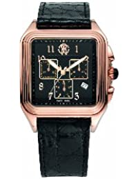 Roberto Cavalli Men's Venom Chronograph Watch R7251692025 with Rose Gold PVD Dial, Crown with Onyx Cabochon and Stainless Steel Case