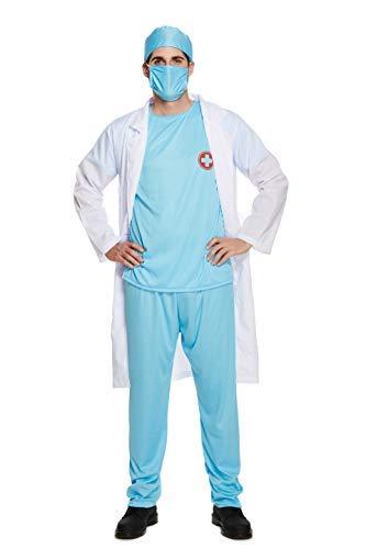 Emmas Kleiderschrank Chirurg scheuert für Herren Ideal für Arzt oder Krankenhaus Thema-Partei - Größe M. L und XL (Men: Large, Surgeon)