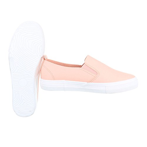 Ital-Design Sneakers Low Damenschuhe Sneakers Low Moderne Freizeitschuhe Rosa KK-43