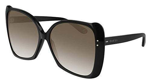 Sonnenbrillen Gucci GG0471S BLACK/BROWN SHADED Damenbrillen