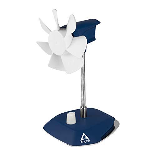 Arctic Breeze - Elegante Ventilatore da Tavolo Usb con Collo Flessibile e Velocità Regolabile - Blu