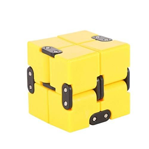 DishyKooker Infinity Cube Mini Fidget Toy Finger edc ansia Antistress Magic Cube Blocks Adulti Bambini Kids Funny Toys Best Gift New Yellow