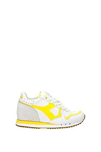 20117058701C4844 Diadora Heritage Sneakers Femme Tissu Jaune Jaune