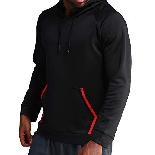 Day.LIN Herren Hoodie Kapuzenpullover Sweatshirt Pullover Streetwear -