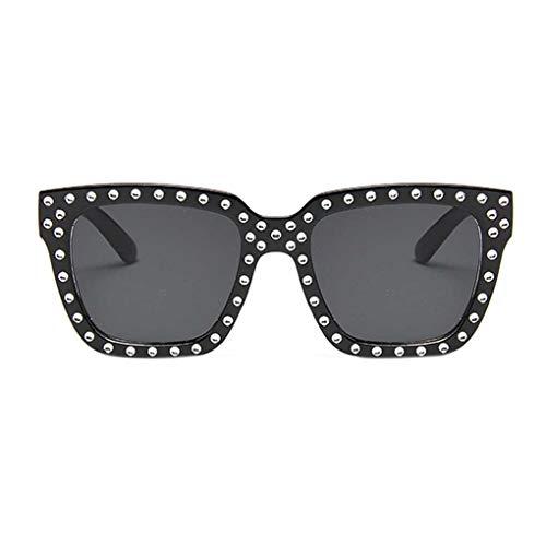 Provide The Best S Große Rahmen-Frauen-Mann-Sonnenbrille Dazzling Rivet Sonnenbrillen Personality Weibliche Brillen Schatten