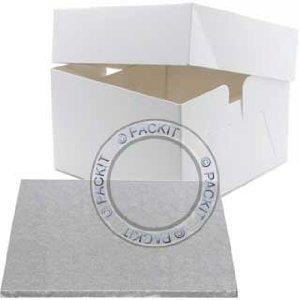 12,7 x 30,5 cm et boîte à gâteau carré pour mariage anniversaire