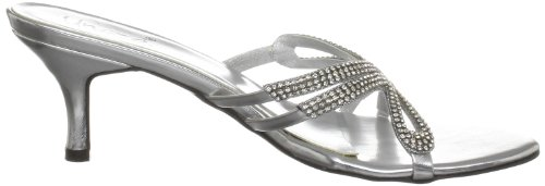 Unze Evening Slippers, Sandali donna Argento (Silber (L18158W))