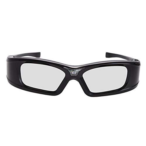 Vrarula 3D Brille Beamer, GL410 Wiederaufladbar 3D Active Shutterbrille für 3D Beamer Full HD - Universal DLP-Link 3D Brillen kompatibel mit alle DLP projecktoren