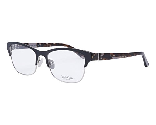 Calvin Klein Collection - CK8021, Rechteckig, Metall, Damenbrillen, BLACK GREY HAVANA(001 L), 53/18/135