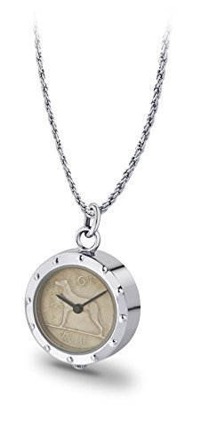 Irish Sixpence Coin Ladies Pendant Watch