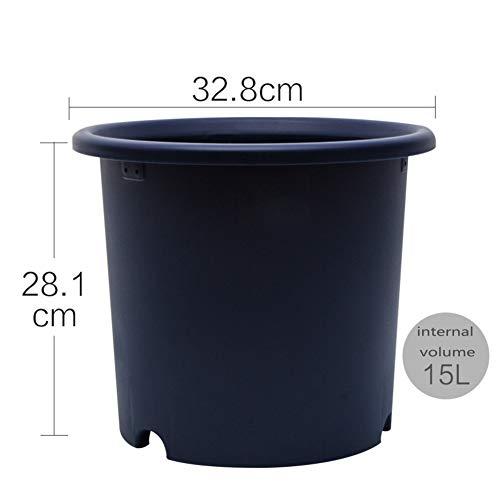 Couleur Type de Profond Pot de Fleur Résine Pot de Fleur Plastique Charnu Pot de Fleur-V 15L