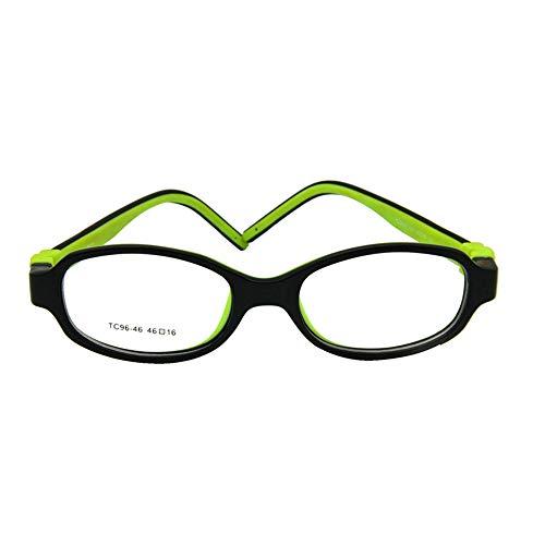 Enzodate i bambini gli occhiali-ottico viti pieghevoli, gli occhiali, lenti, tr90& silicone in sicurezza quadro flessibile, dimensioni 46/16