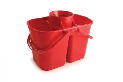 Doppio secchio mop, 15l, colore: rosso
