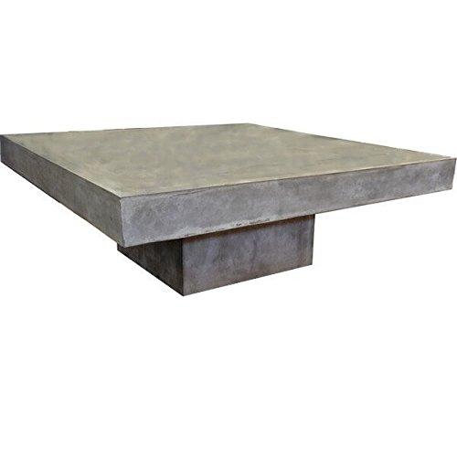 Table basse carrée en béton