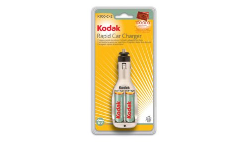 Kodak K700 AA Battery Car Charger with 2 AA Batteries