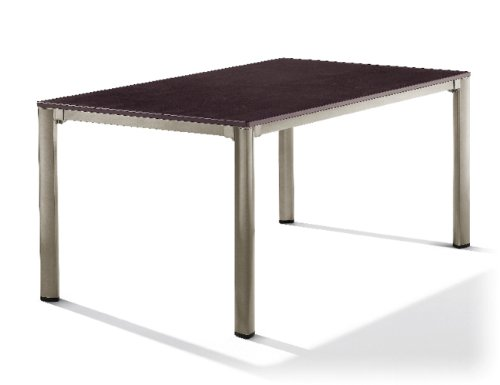 Sieger 1780-60 Exclusiv-Tisch mit Puroplan-Platte 165 x 95 cm, Aluminium-Gestell champagner,...