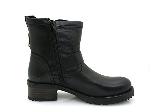 Buffalo robuster Kurzstiefel Lederschuhe Leder Boots 30509 schwarz brandy Schwarz