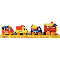 Zala Traders Four Piece Push Pull Along Detachable Wooden Toy Train Set Beautifully Designed Train with Strong Magnetic…