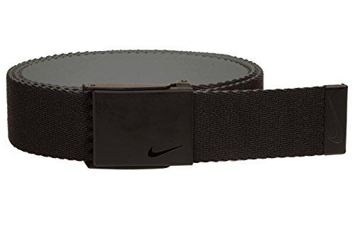 Nike 2018 Tech Essentials Bottle Opener Golf Single Web Reversable Mens Belt Black/Charcoal One Size (Black Nike Belt)