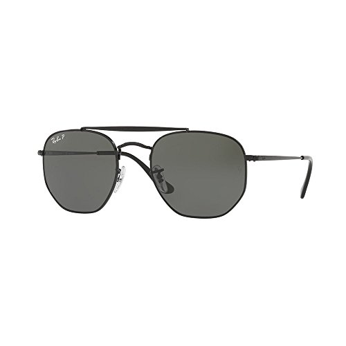 Ray-Ban The Marshal Sunglasses in Black Green Polarised RB3648 002/58 54