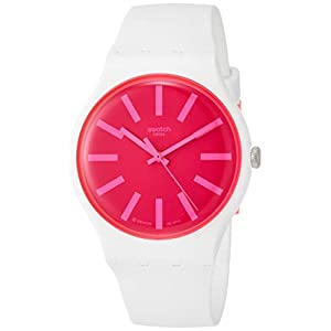 Swatch Womens Analogue Quartz Watch with Silicone Strap SUOW162
