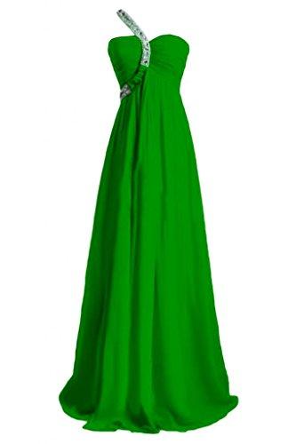 Gorgeous Bride Beliebt Ein-Traeger Empire Chiffon Lang Schleppe Abendkleid Festkleid Ballkleid Grün