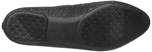 White Mountain Cece Femmes Synthétique Ballerines Black-Glitter