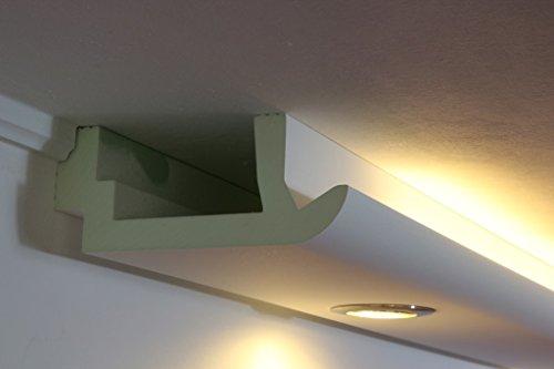 LED Stuckleiste indirekte Wandbeleuchtung und Deckenbeleuchtung - Stuck- und Licht-Profil aus Hartschaum 200x82mm WDKL-200A-PR von BENDU