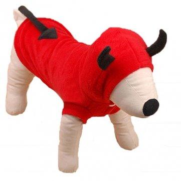 Kostüm Katze Kuh - Tanzimarket Hunde-Kostüm Teufelskostüm für Hunde und Katzen, mit Kapuze, hochwertig