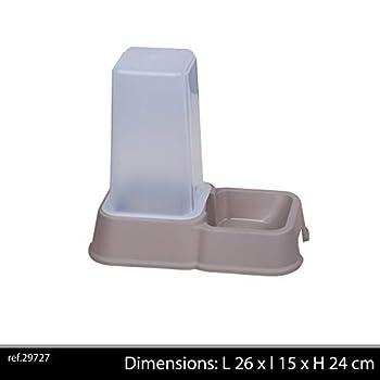 Distributeur de croquettes, 1,5 l gris pour Chats
