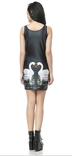 Thenice, sexy Kleid, figurbetont, elastisch, ärmellos swan