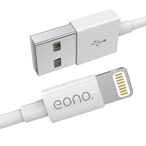 Eono Cable Lightning Cable Cargador Compatible Con iPhone 3.3ft/1m Cargador líder de iPhone Cable...
